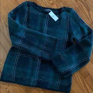 NWT Ann Taylor Plaid Sweater